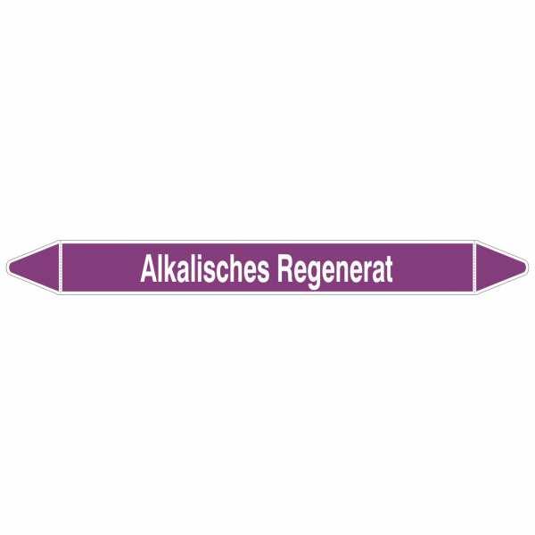 Brady Rohrmarkierer mit Text Alkalisches Regenerat