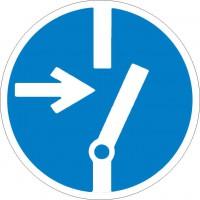 Gebotszeichen Vor Arbeiten freischalten nach BGV A8 (M14)