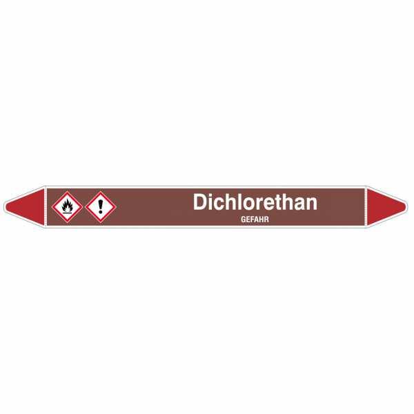 Brady Rohrmarkierer mit Text Dichlorethan - GEFAHR
