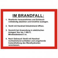 Handhabungsfolie Wandhydrant DIN 14461-6:2016-10 für FW-Schlauch