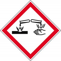 GHS-Gefahrstoffetiketten Ätzend - GHS05