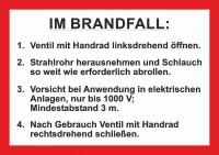 Handhabungsfolie Wandhydrant DIN 14461-1 für formfesten Schlauch