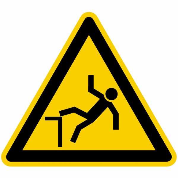 Warnzeichen Warnung vor Absturzgefahr nach BGV A8 (W15)