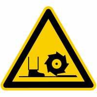 Warnung vor Fräswelle nach BGV A8 (W22)