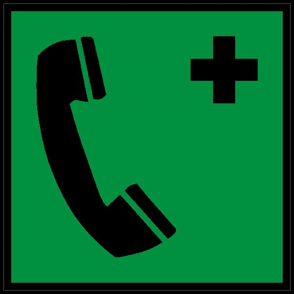 Rettungszeichen Notruftelefon nach ISO 7010 (E004) / ASR A1.3