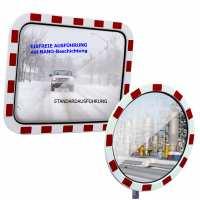 Verkehrsspiegel eisfrei mit Reflexfolie RA 2