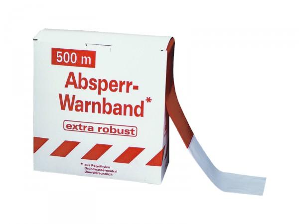 Absperrband -Robust- rot-weiß, 500 m
