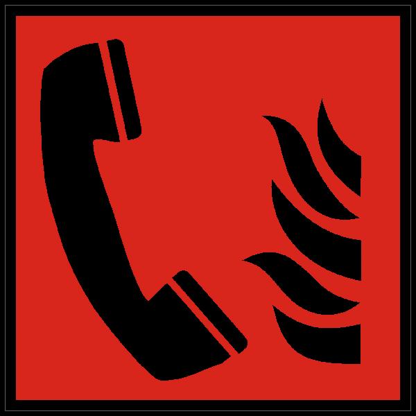 Brandschutzzeichen Brandmeldetelefon nach ISO 7010 (F006)