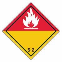 Unterklasse 5.2 - Organische Peroxide weiße Flamme