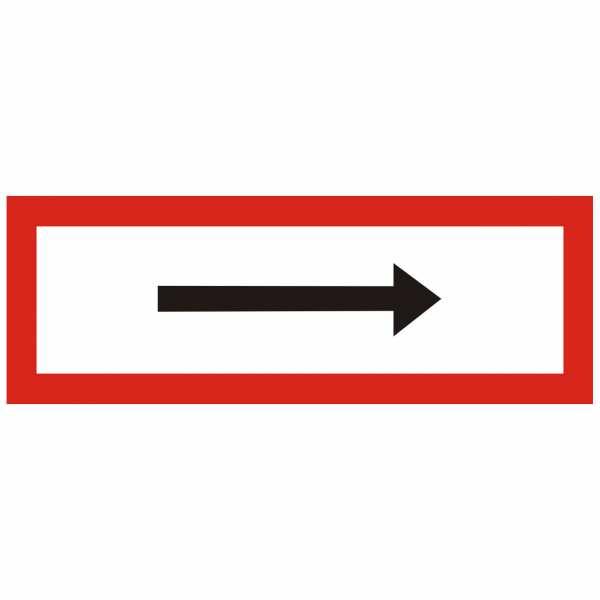 Brandschutzschild Richtungspfeil links rechts