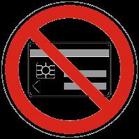 Verbotszeichen Mitführen von magn. und elektr. Datenträgern nach BGV A8 (P21)