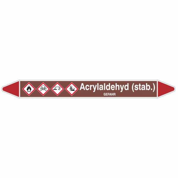 Brady Rohrmarkierer mit Text Acrylaldehyd (stab.) - GEFAHR