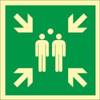 Rettungszeichen Sammelstelle nach ISO 7010 (E007) / ASR A1.3