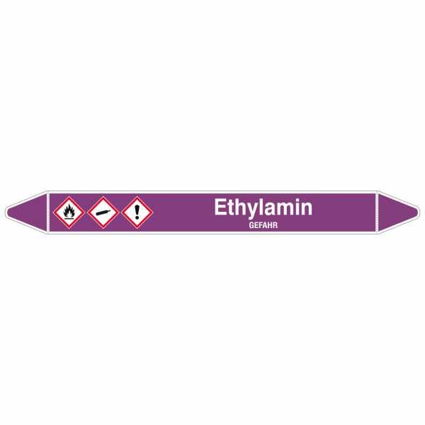 Brady Rohrmarkierer mit Text Ethylamin - GEFAHR