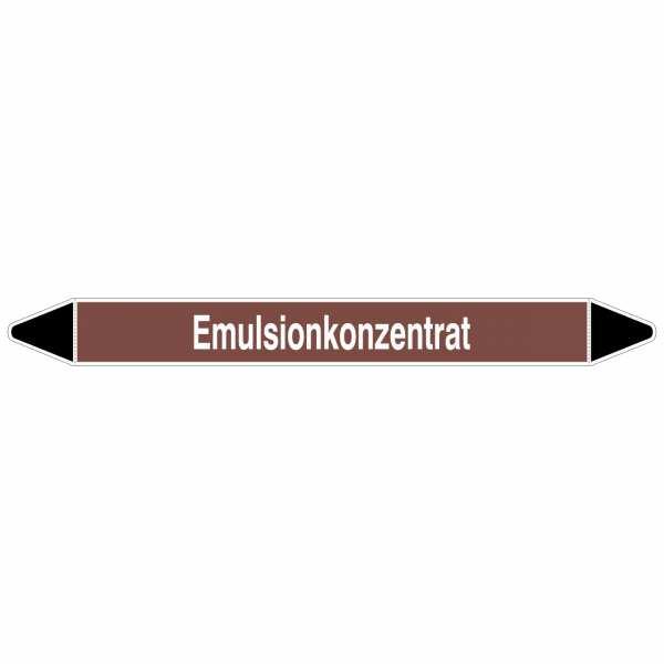 Brady Rohrmarkierer mit Text Emulsionkonzentrat, 250 x 26 mm