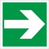 Rettungszeichen Richtungsangabe links/rechts nach BGV A8 (E01)