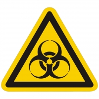 Warnzeichen Warnung vor Biogefährdung nach ISO 7010 (W009)