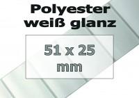 Polyester-Etiketten - weiß glanz (5249 Stk. auf Rolle)