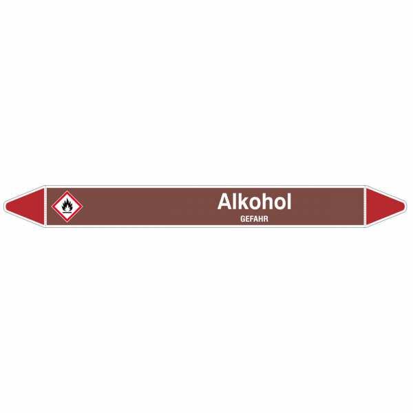 Brady Rohrmarkierer mit Text Alkohol - GEFAHR