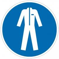 Gebotszeichen Schutzkleidung benutzen nach ISO 7010 (M010)
