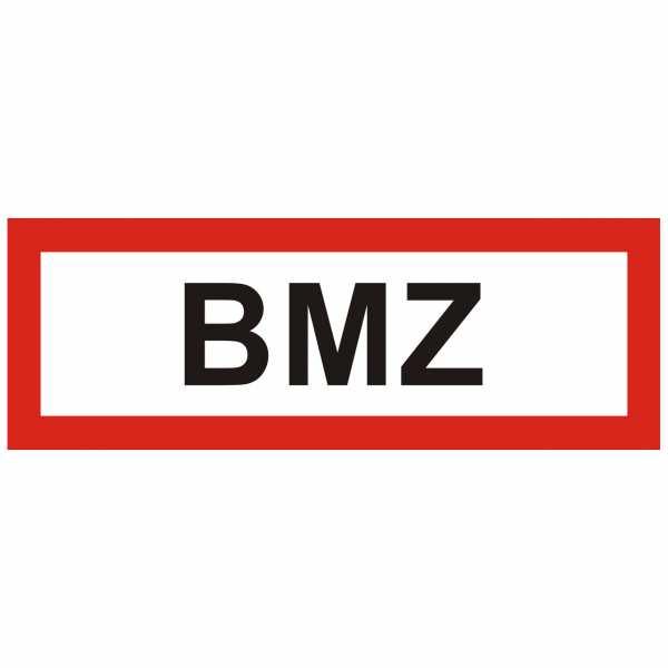 Brandschutzschild mit Text BMZ