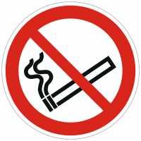 Verbotszeichen Rauchen verboten nach ISO 7010 (P002)