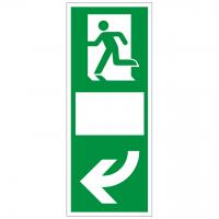 Türgriffhinterlegung langnachleuchtend, linksweisend mit Symbol nach ISO 7010