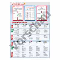 Sicherheitsaushang Brandschutzordnung Teil A - 12 Sprachen