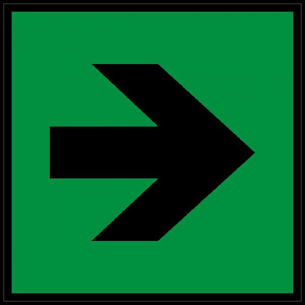Rettungszeichen Richtungsangabe links rechts nach ISO 7010 (E005) / ASR A1.3