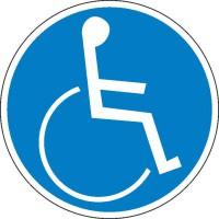 Gebotszeichen Für Rollstuhlfahrer (nach DIN 18024)