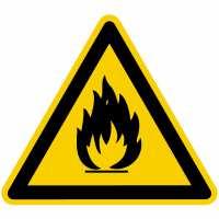 Warnung vor feuergefährlichen Stoffen nach BGV A8 (W01)