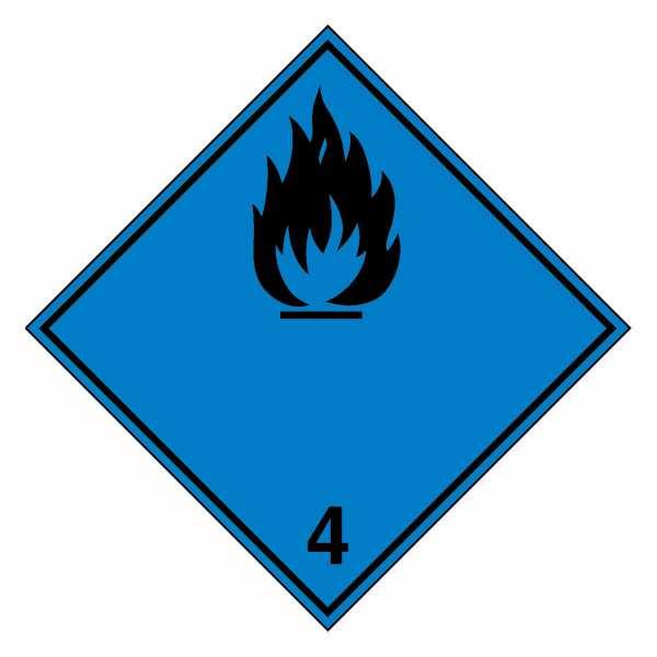 Unterklasse 4.3 - Desensibilisierte explosive Stoffe (schwarze Flamme)