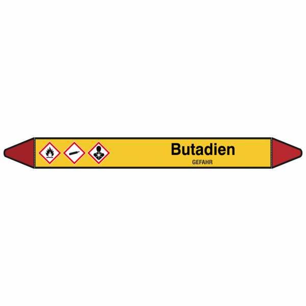 Brady Rohrmarkierer mit Text Butadien - GEFAHR