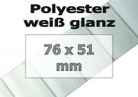 Polyester-Etiketten - weiß glanz (1370 Stk. auf Rolle)