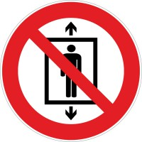 Verbotszeichen Personenbeförderung verboten nach ISO 7010 (P027)