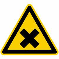 Warnung vor gesundheitsschädlichen oder reizenden Stoffen nach BGV A8 (W18)