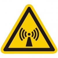 Warnzeichen Warnung vor nichtionisierender Strahlung nach ISO 7010 (W005)