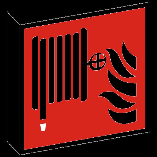 Fahnenschild Löschschlauch nach ISO 7010 (F002)