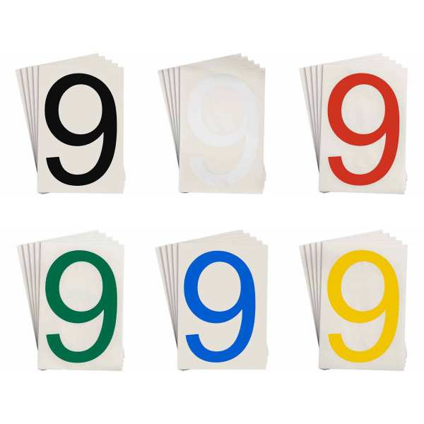 ToughStripe Bodenmarkierung mit den von Zahlen 0 bis 9