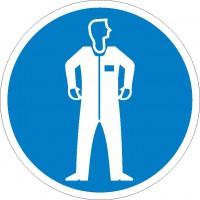 Gebotszeichen Schutzbekleidung benutzen nach BGV A8 (M07)