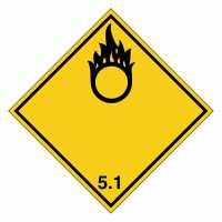 Gefahrzettel Entzündend wirkende Stoffe Klasse 5.1