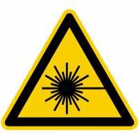 Warnung vor Laserstrahl nach BGV A8 (W10)
