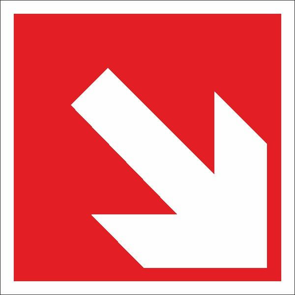 Brandschutzzeichen Richtungsangabe aufwärts abwärts nach BGV A8 (F02)