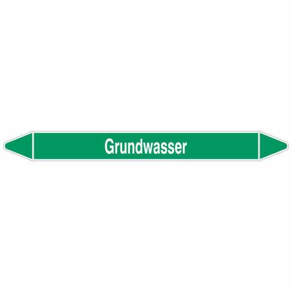 Brady Rohrmarkierer mit Text Grundwasser