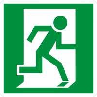 Rettungszeichen Rettungsweg rechts (BGV A8 E10)