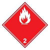 Gefahrzettel Entzündbare Gase Klasse 2.1 (weiße Flamme)