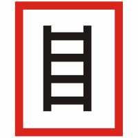 Brandschutzzeichen Hinweisschild Stelle zum Anleitern nach DIN 4066 E2