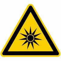 Warnung vor optischer Strahlung nach BGV A8 (W09)
