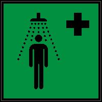 Rettungszeichen Notdusche nach ISO 7010 (E012) / ASR A1.3