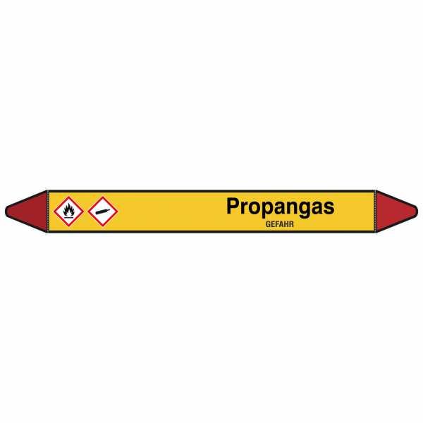 Brady Rohrmarkierer mit Text Propangas - GEFAHR